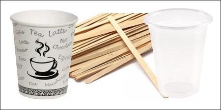 ambalaj grubu ürünleri, plastik bardaklar, karton bardaklar, tahta karıştırıcı ürünleri