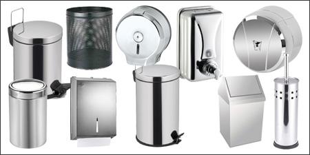 krom grubu ürünleri, krom muhafazalı wc fırçası, krom çöp kovası, krom içten çekmeli tuvalet aparatı, krom z katlı havlu aparatı
